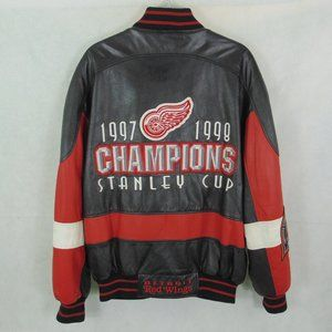 VTG Detroit Red Wings Stanley Cup Leather Jacket